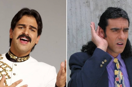 Alejandro Palacio, en 'Rafael Orozco, el ídolo', que finalizó con buen 'rating', y  y Miguel Varoni, en 'Pedro, el escamoso, novela que reemplaza a 'Rafael Orozco'.