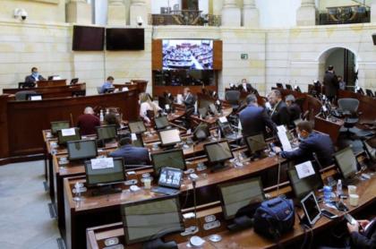 Foto del Senado de la República ilustra nota sobre cómo funciona el Congreso de Colombia.