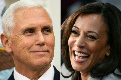 Mike Pence y Kamala Harris, a propósito del debate vicepresidencial en Estados Unidos.