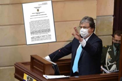Carlos Holmes Trujillo responde a orden del Tribunal Superior de Bogotá de ofrecer excusas por excesos de la Policía