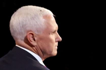 Mike Pence, durante debate vicepresidencial en Estados Unidos.