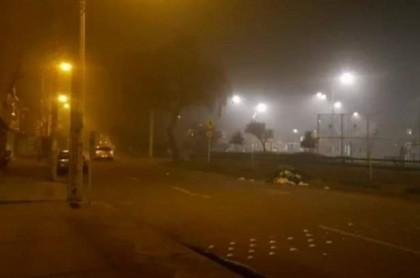 Una espesa humareda cubrió el occidente de Bogotá este 8 de octubre.