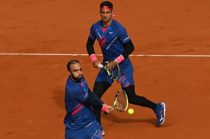 Juan Sebastián Cabal y Robert Farah en Roland Garros, que perdieron en las semifinales del torneo