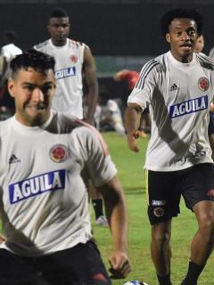 Radamel Falcao García entrenando con la Selección Colombia, posible formación de Colombia contra Venezuela por Eliminatorias