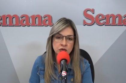 Vicky Dávila, directora de la parte digital de Semana, con la que se han solidarizado organizaciones periodísticas por fallo en contra
