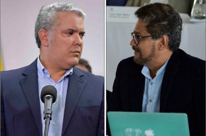 Iván Duque e Iván Márquez