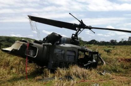 Accidente de helicóptero del Ejército deja 4 soldados heridos.