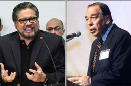 Alias 'Iván Márquez' y Álvaro Gómez Hurtado.