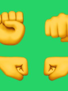 Emojis de puños de WhatsApp.