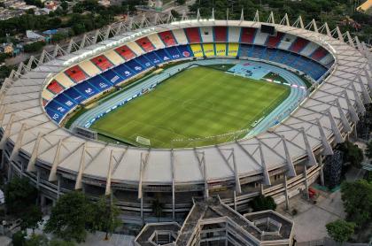 Wilson Ruiz, ministro de Justicia, habría ido a Colombia-Venezuela, partido jugado en Barranquilla a puerta cerrada. Foto: Estadio Metropolitano antes del compromiso.