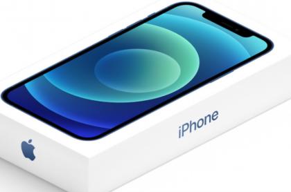 Caja del iPhone 12, sin cargador ni auriculares