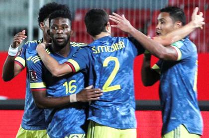 Jéfferson Lerma abrió el marcador a favor de Colombia ante Chile.