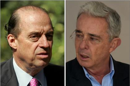 Álvaro Leyva y Álvaro Uribe