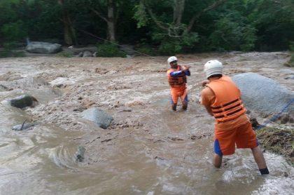 Imagen del lugar de la tragedia; cuatro personas murieron por creciente de río Acacías en Meta