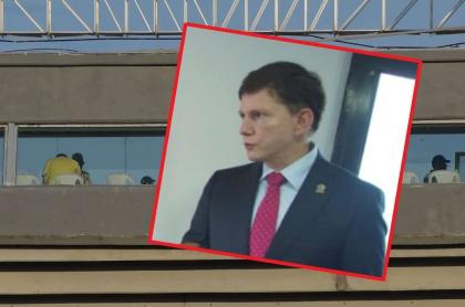 Wilson Ruiz, ministro de Justicia, que dejó su puesto en una comisión de la Federación de Fútbol, tras polémica por ir a partido