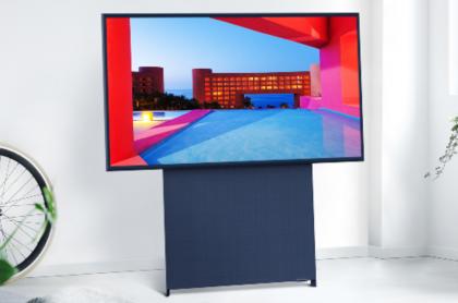 Televisor giratorio de Samsung.