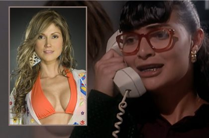 Ana María Orozco en 'Betty, la fea', novela en la que salieron Lina Marulanda y otros famosos sin ser actores (fotomontaje Pulzo).