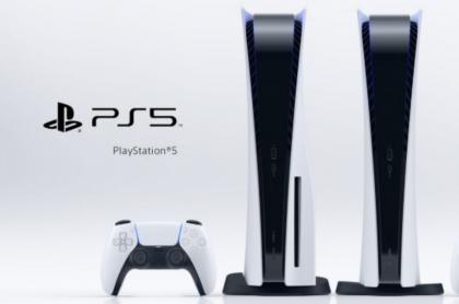 Foto de la PS5 con control