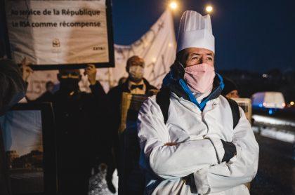 Manifestación en París, Francia.