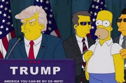 Donald Trump, presidente de Estados Unidos, en un episodio de Los Simpson.
