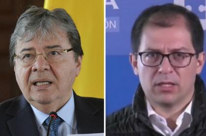 Carlos Holmes Trujillo y Francisco Barbosa, citados por la JEP
