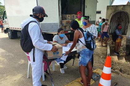 Donaciones de Alpina en Galapa, municipio del Atlántico.