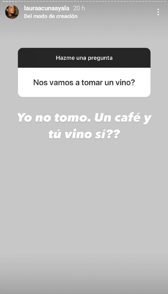 Captura de pantalla historia Instagram lauraacunaayala.