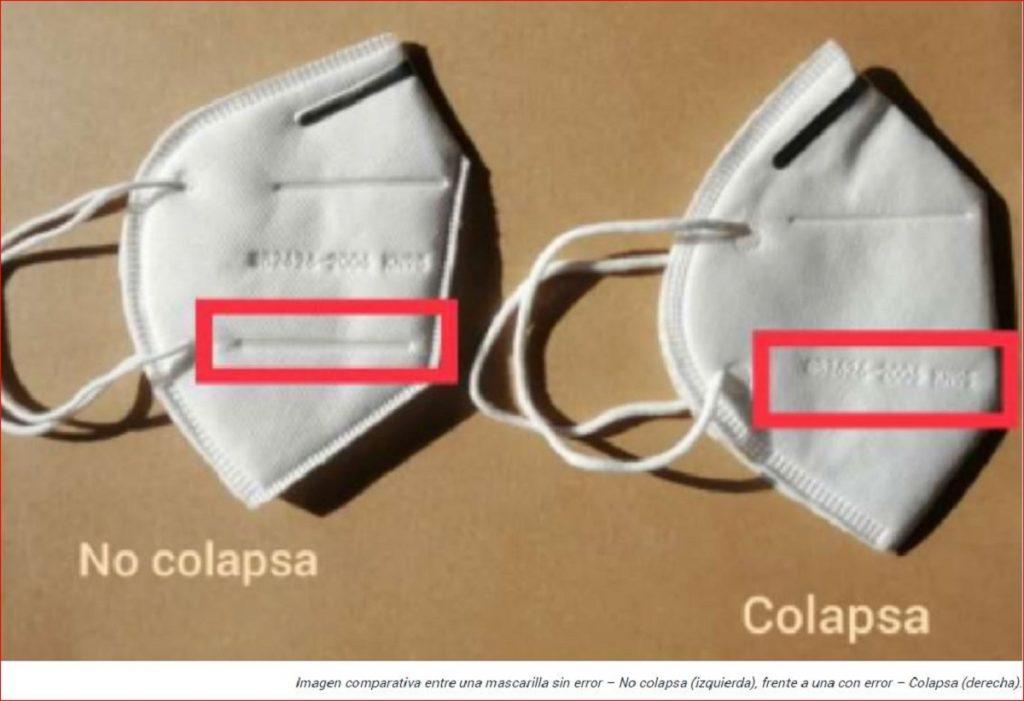Tapabocas KN95 con error de diseño / Invima