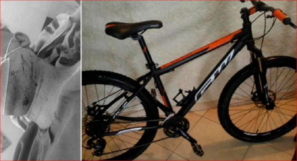Fotos del enfermero y de la bicicleta que le robaron / Rodrigo Ávila Tv