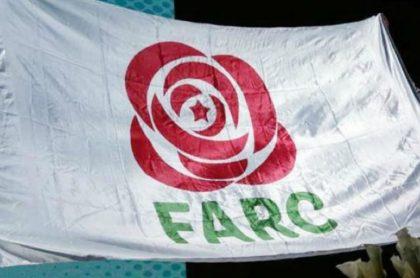 Bandera del partido de las Farc.