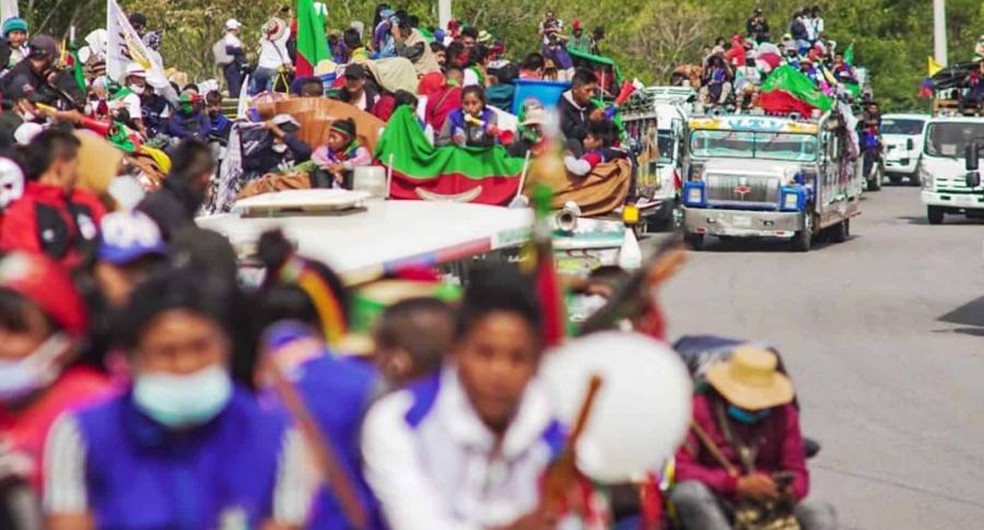 Minga indígena llegó a Fusagasugá