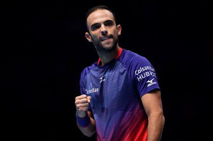 Juan Sebastián Cabal, quien dio positivo para coronavirus, celebrando un punto en el US Open.