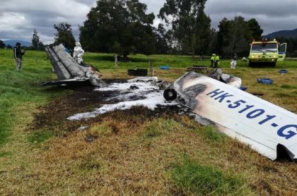 Accidente de avioneta en Guaymaral, Bogotá
