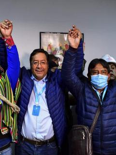 Luis Arce, presidente de Bolivia elegido el 18 de octubre.