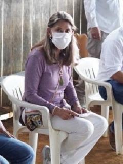 Marta Lucía Ramírez, vicepresidenta que visitó comunidades indígenas del Vaupés