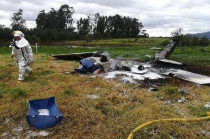 Accidente de avioneta en Guaymaral, norte de Bgotá