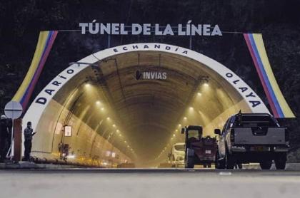 Entrada al Túnel de La Línea, antes de su inauguración, a comienzos de septiembre de 2020