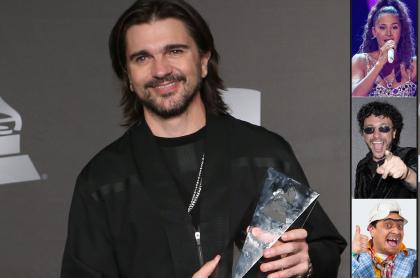 Juanes y Greeicy Rendón, Andrés Cepeda y Suso, famosos que comentaron confesión de Juanes de que se robó un carro Tesla, sin querer.