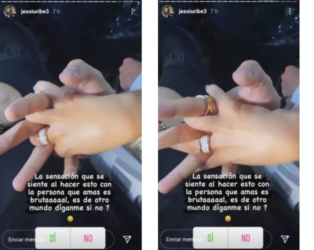 Capturas de pantalla historias Instagram jessiuribe3 tomadas por Noticias Caracol.