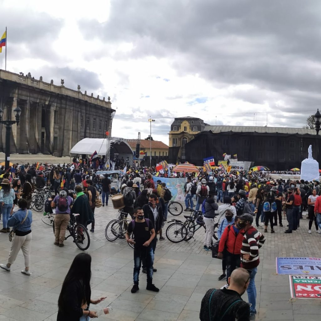 Plaza de Bolívar, durante el Paro Nacional / Pulzo.