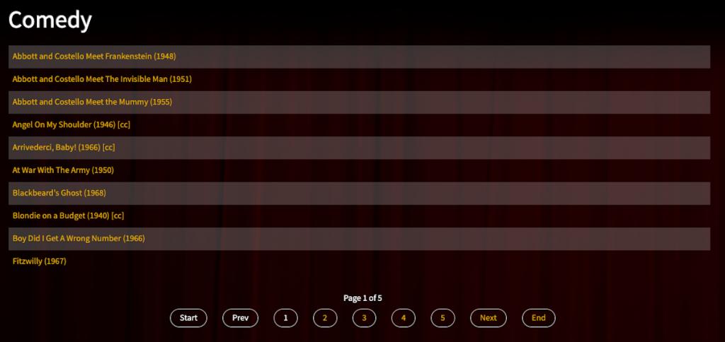 Captura de pantalla de Classic Cinema Online