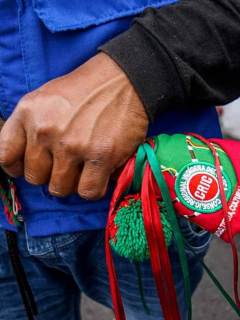 Minga indígena de octubre del 2020 en Bogotá.