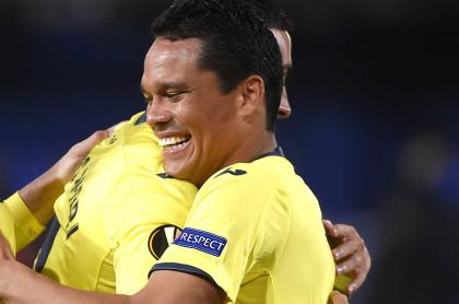 Gol y penalti errado de Carlos Bacca con Villarreal en la Liga de Europa. Imagen de referencia.