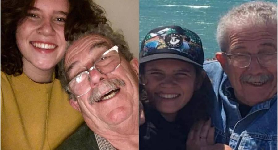 Abril Couceiro y su abuelo, quien conmovió las redes con mensaje luego de enterarse que es lesbiana