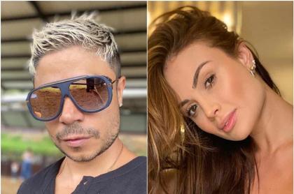 Fotomontaje de Daniel Calderón y Sara Uribe, a propósito de que él habló del fin de su relación