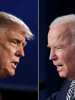 Donald Trump y Joe Biden  se enfrentan en el debate presidencial de EE. UU.