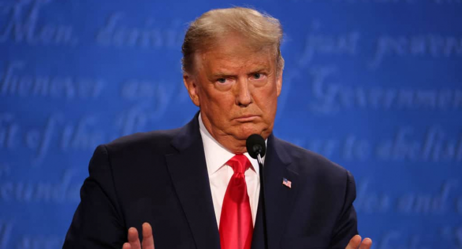 Donald Trump, quien dijo que era la persona menos racista en la sala del debate