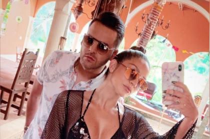 Foto de Federico Severini y Kimberly Reyes, a propósito de que él le dio un millonario regalo de aniversario