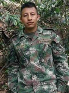 Wilmer Almeida López, soldado que murió por un rayo en Norte de Santander.
