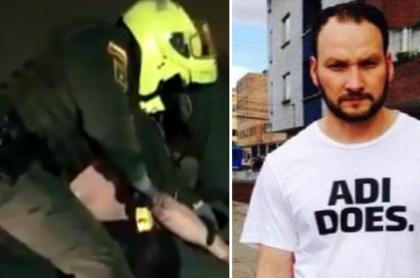 Patrullero que utilizó el 'taser' contra Javier Ordóñez, que pidió que lo absuelvan por su muerte, y la víctima. (Fotomontaje de Pulzo).
